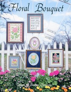 1980s Floral Bouquet Cross Stitch Leaflet by Barbara Christopher Pegasus OriginalsBook 137 by PengyPatterns on Etsy