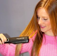 For perfectly straight hair in just one pass.. the Rowenta Beauty Straight Express Iron!