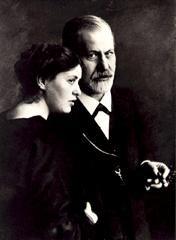 Sigmund Freud con la figlia Sophie (1920)