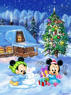 Fun Office Christmas Activities – Get Ready for Christmas Mickey Mouse Christmas, Mickey Mouse And Friends, Mickey Minnie Mouse, Mickey Mouse Wallpaper, Disney Wallpaper, Christmas Scenes, Christmas Art, Xmas, Illustration Noel