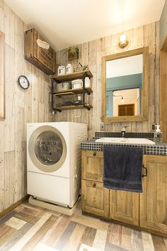 Toilet And Bathroom Design, Stacked Washer Dryer, Laundry Room, Washing Machine, Tiny House, Diy And Crafts, Home Appliances, Interior, Furniture