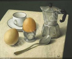 STILL LIFE WITH COFFEE AND EGGS sold by Whyte's, Dublin, on Monday, May 18, 2009 ; Stuart Morle
