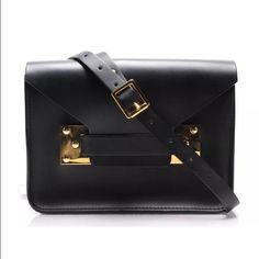 Final Price Sophie Hulme Mini Clutch in Black Purchased and worn one month. Still in excellent condition. No trades/PayPal! Sophie Hulme Bags Crossbody Bags