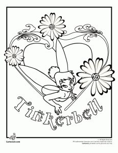 Tinkerbell And Friends Coloring Pages Jenny For Holly Abby