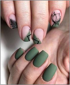 56 Chic Natural Short Sqaure Nails Design Ideas For Any Occasion - Page 55 of 56 - ногти Cute Acrylic Nails, Matte Nails, Sqaure Nails, Hair And Nails, My Nails, Pink Gel, Minimalist Nails, Stylish Nails, Green Nails