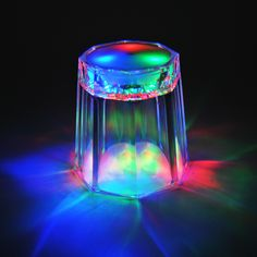 light up flashing led ice cube glow in dark party favor 6pcs rave