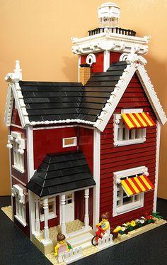 New England Lighthouse 1 (Lego MOC) | Flickr - Photo Sharing!