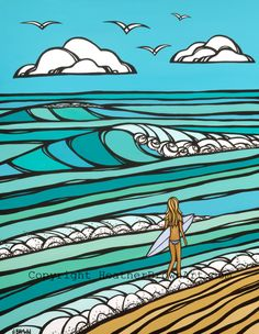 #Surf art #HEATHER BROWN