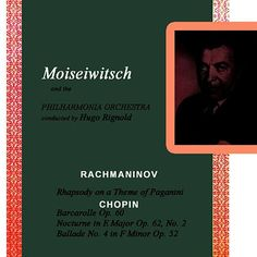 Rhapsody On A Theme Of Paganini de Benno Moiseiwitsch
