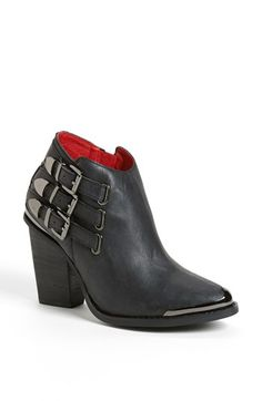 Looks great with jeans! Protect your leather investment with WhooHoo-Clean Leather Care, available on http://www.amazon.com/Leather-Conditioner-Investment-Furniture-Leather/dp/B00EECWG7A. Jeffrey Campbell 'Westin' Bootie $199.95 available at Nordstrom.