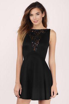 Skylight Lace Skater Dress. Black ... 478885053