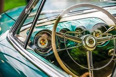1954 Chrysler Ghia Steering Wheel Emblem - Car Images by Jill Reger