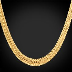 Men Long Foxtail Chain Necklace 6mm Width 32'' Length Rose Gold/Yellow Gold Plated Mens Chains Jewelry Collier Wholesale N435