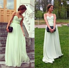 Green Bridesmaid Dresses,Sage Bridesmaid Dress, Prom Dresses 2015,Long Prom Dresses,Green Prom Dres on Luulla