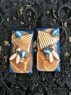 resin earrings-FREE SHIPPING-resin jewelry-gypsy