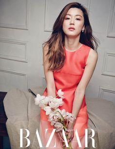 pink #dress by #Fendi :: Jun Ji Hyun for Harper's Bazaar Korea, April 2014