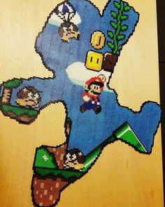 Super Mario Pearler Bead Patterns, Perler Patterns, Pearler Beads, Geek Crafts, Cat Crafts, Marvel Cross Stitch, Perler Bead Mario, Pixel Drawing, Art Perle