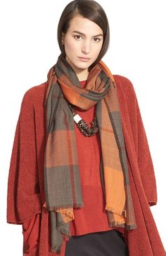 eskandar+Hand+Woven+Cashmere+Tartan+Scarf+available+at+#Nordstrom
