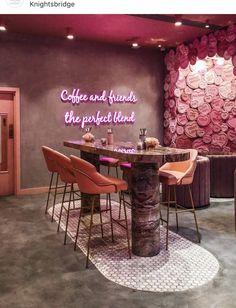 best office decor you need to have in your space 25 Salon Interior Design, Restaurant Interior Design, Bohemian Interior Design, Modern Restaurant, Bar Interior, Coffee Shop Design, Cafe Design, Design Design, Design Ideas