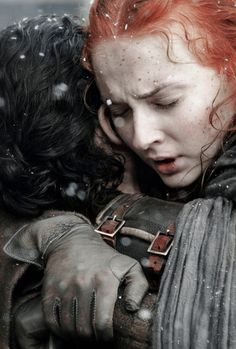 Sansa Stark and Jon Snow reunited, Game of Thrones Season 6 brother and sister ♡♡