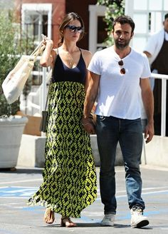 Alessandra Ambrosio Photos - Alessandra Ambrosio and Her Boyfriend Get Breakfast -july 2014 street style - summer outfit - maxi dress