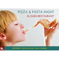 Savour the delights of our #PizzaPastaNight, perfect for those looking for a sumptuous Saturday getaway!