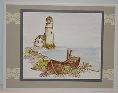 Lighthouse - Background (Sku#T1475) Art Impressions watercolor