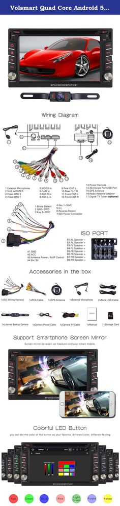 pioneer power cord harness speaker plug for navigation dvd Pioneer Avic 5000nex Wiring Diagram volsmart quad core android 5 1 car stereo double din dvd gps support mirror link obd2 free pioneer avic-5000nex wiring diagram