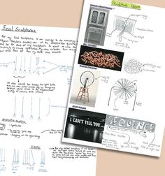 sketchbook pages completed as part of a digital moving image project by Emily Lenz, Diocesan School for Girls