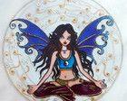Mandala Vitral Fada Azul 25cm