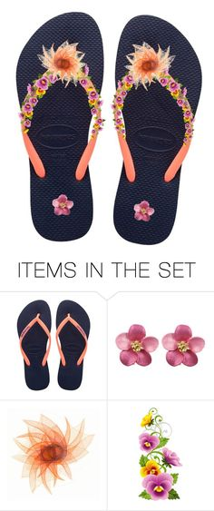 """""""Flowery"""" by swgcreations ❤ liked on Polyvore featuring art and FlipFlops"""