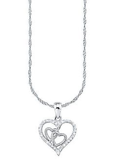 Amor Halskette, »mit Herzanhänger, 492393« im Universal Online Shop Silver, Shopping, Jewelry, Products, Silver Chain Necklace, Morning Of Wedding, Romantic Gifts, Women's, Jewlery