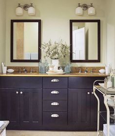 I Want To Make Our Master Bathroom Look Like This The Long Mirrors