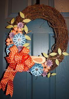 Wreath made using the Art Philosophy Cricut Cartridge.