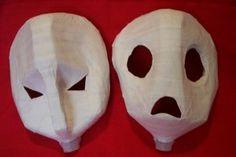Paper Mache Halloween Masks