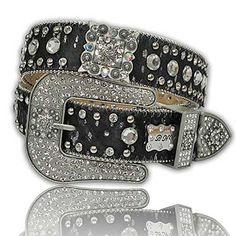 Cowhide Square Concho Bling Belt | Catalog Products | Stockyard Style | Inspired by the Styles of our Nation's Stockyards www.stockyardstyle.com