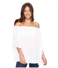 Volcom - Red Eye Off Shoulder (White) Women's Clothing