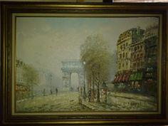 A superb vintage original oil on canvas by artiques71 on Etsy, $484.95
