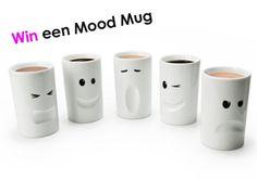 Win een Mood Mug  Ben jij iedere dag hetzelfde geluimd of varieert je humeur wel eens van slaperig, naar speels, humeurig, gelukkig of gestresseerd? De Mood Mugs van Thabto lachen jouw slechte humeur weg en benadrukken je positieve vibes. Wij mogen 10 Mood Mugs weggeven. Welke Mug kies jij? Klik voor de actie op http://www.wonenonline.nl/actie-moodmug.html