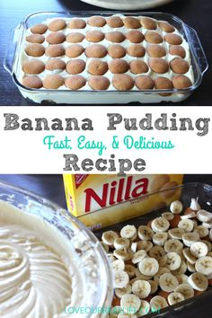 - Dessert Receipes - Banana Pudding // Fast, Easy, and Super Delicious! I LOVE this easy banana pudding recipe that was adapted from Paula Deen's. This fast and delicious dessert will quickly become your favorite! Magnolia Bakery Banana Pudding, No Bake Banana Pudding, Banana Pudding Desserts, Southern Banana Pudding, Homemade Banana Pudding, Banana Pudding Paula Deen, Pioneer Woman Banana Pudding, Banana Pudding Recipe With Cream Cheese, Easy Banana Desserts
