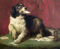 """The Trickster"" -- by Sir Edwin Henry Landseer (British, 1802–1873)"