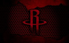 Download wallpapers Houston Rockets, 4k, logo, NBA, basketball, Western Conference, USA, grunge, metal texture