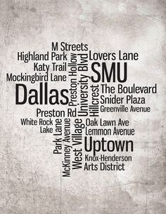 A collage of only the rich parts of Dallas? Whoever made this clearly lives in a bubble..
