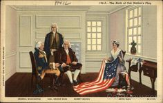 The birth of our Nation's flag Vexil Weisgerber Patriotic