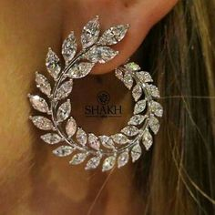Luxury Olive Branch Wheat Simulate Diamond Engagem - Women& Jewelry and Accessories - Luxury Olive Branch Wheat Simulate Diamond Engagem – - Cute Jewelry, Wedding Jewelry, Women Jewelry, Fashion Jewelry, Wedding Rings, Gold Wedding, Jewelry Ideas, Flower Jewelry, Fashion Earrings