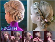 Disney Elsa Frozen Coronation Hairstyle #Fashion #Beauty #Trusper #Tip