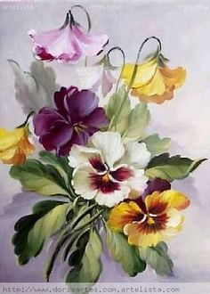 """Rise and Shine"" watercolor by Susan Crouch. Great example of negative painting. China Painting, Tole Painting, Fabric Painting, Art Floral, Watercolor Flowers, Watercolor Paintings, One Stroke Painting, Botanical Prints, Vintage Flowers"
