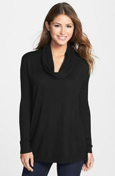 love this cowl neck sweater!