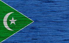 Download wallpapers Flag of Galmudug, 4k, Africa, wooden texture, national symbols, Galmudug flag, art, Galmudug