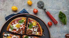 Receta para pizza con base de quinoa!